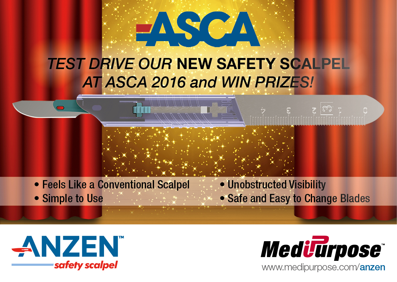 Anzen™ Safety Scalpel Direct Mailer: ASCA 2016 (Pre Event)