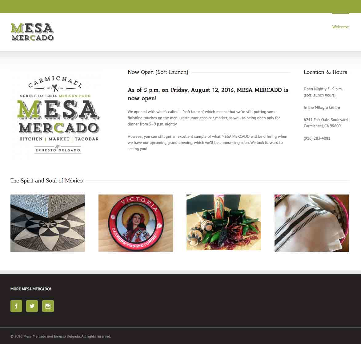 MESA MERCADO Website