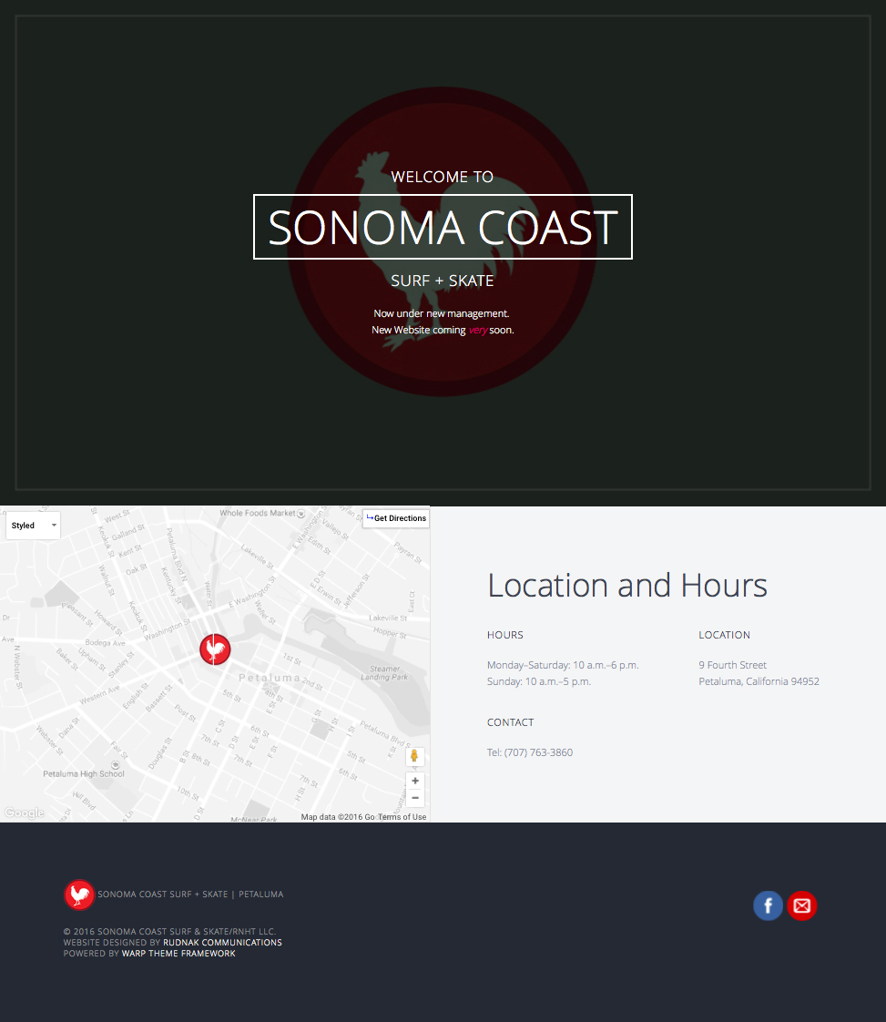 Sonoma Coast Surf + Skate Website