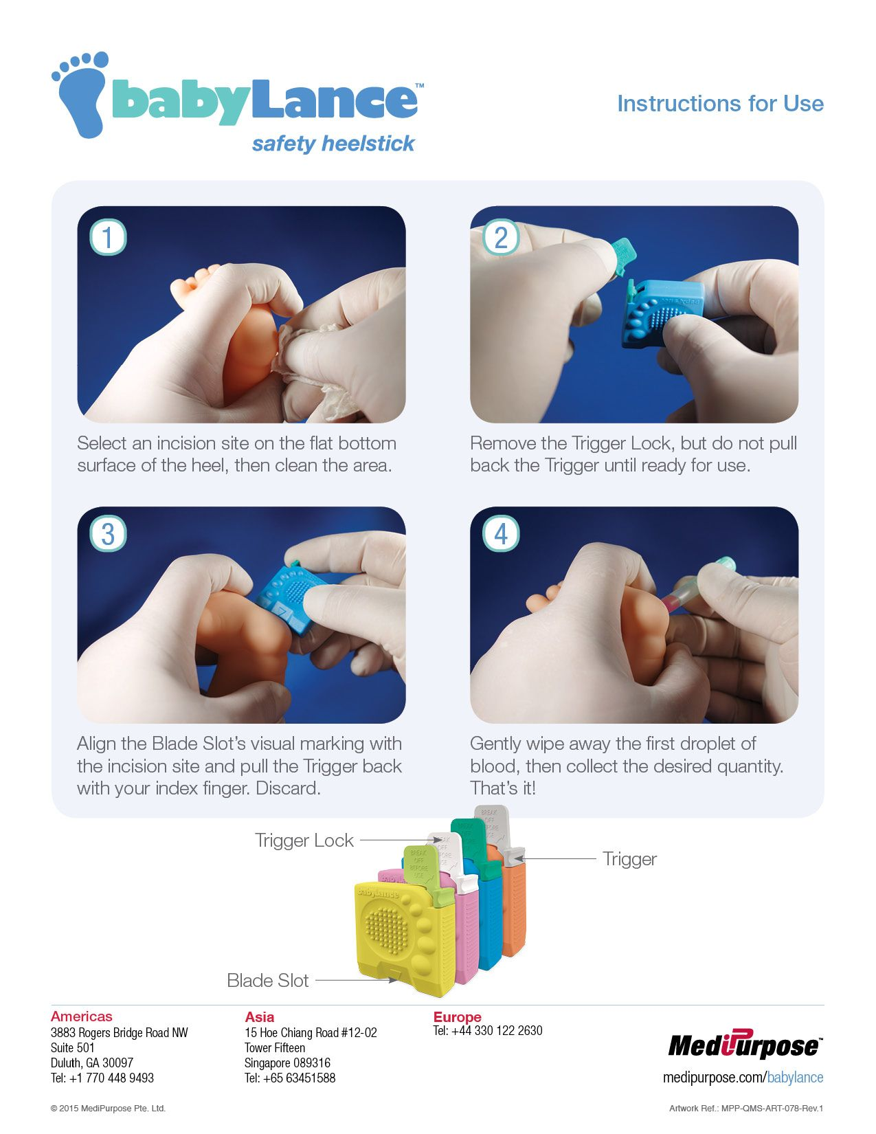 babyLance™ Safety Heelstick User Guide - RUDNAK communications